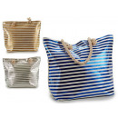 bag handles bright striped rope 3 times assorted