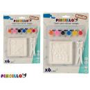 scatola in gesso da colorare 6 volte assortito