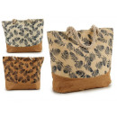 wholesale Food & Beverage: bag with rope handles leaves assorted colors