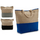 Großhandel Taschen & Reiseartikel: Tasche behandelt glattes Seil und Stempel sortiert