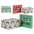 cardboard box panda 2 times assorted