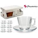 ensemble de 6 tasses de café + assiette Bougie 195