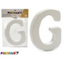 bokstav g polystyren 13,5x15 cm