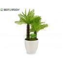 2tronco palm tree flowerpot blan 33cm