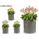 wholesale Artificial Flowers: artificial plant pink pot cemen cylinder 4 times