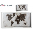 Painting orig 80x150 world map silver