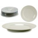 assiette porcelaine unie 24,5cm