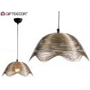 metalen lampgolven nikkelafwerking groot