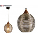 wholesale Lampes: round metal lamp nickel small finish