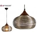 metalen lamp met grote nikkelafwerking