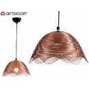 metal lamp waves copper finish small