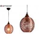 round metal lamp small copper finish