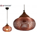 metal lamp with small copper finish