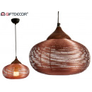 landscape metal lamp large copper finish
