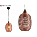 metal lamp cylinder finished copper small