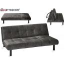 folding sofa velvet Gray