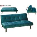 folding sofa velvet blue