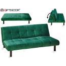 folding sofa velvet green