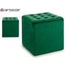 quadratischer Hauch 35x35 Samt Grün