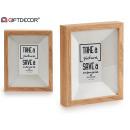 10x15 photo frame natural wood trim