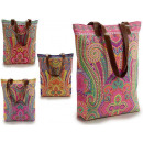 wholesale Bags & Travel accessories: brown assorted cashmere print handbag assorted