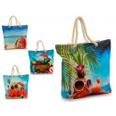 wholesale Bags & Travel accessories: white beach rope bag 4 times assorted