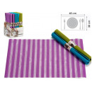 wholesale Table Linen: mat 30x45 stripes, colors 3 times assorted v