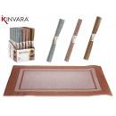 wholesale Table Linen: 30x45 mat, colors 3 times assorted metaliz