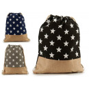 wholesale Shopping Bags: bag sack stars colors 3 times assorted