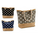 beach bag white rope stars 3 times assort
