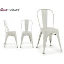 chaise en métal blanc elin