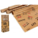 wholesale Gifts & Stationery: roll paper gift 70x200 kraft phrases 2