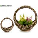 figure resin oval basket with handle