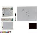 weiße magnetische Tafel 17x12 Marker
