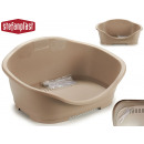 beige small plastic pet bed