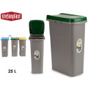 trash can with 25l green bag