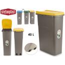 Mülleimer mit 40l gelben Sack