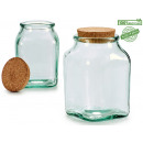square recycled glass jar