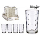 wholesale Drinking Glasses: set of 4 glasses circles 22.5cl