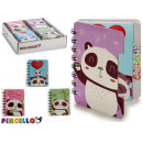 wholesale Booklets & Blocks: notebook 80 pages panda 4 times assorted