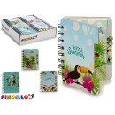 notebook 80 pages tropical 4 times assorted