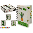 wholesale Booklets & Blocks: notebook 80 pages cactus 4 times assorted