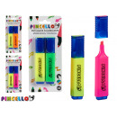 set of 2 colored fluorescent pens 2 times