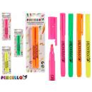 ingrosso Scuola: set di 2 penne fluorescenti colorate 4 colori