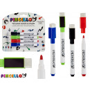 set of 4 eraser cap pens 4 colors