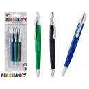 groothandel Stationery & Gifts: set van 3 pennen metalen clip 3 kleuren