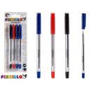 Set mit 4 Stiften 14,5cm Kappe 3 Farben