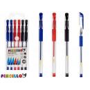 Großhandel Stifte & Schreibgeräte: Set mit 6 Stiften 14,8cm 3 Farben