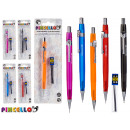 set of mechanical pencil and refill assorted 5 col