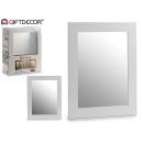 groothandel Home & Living:spiegel 38x48 wit kader